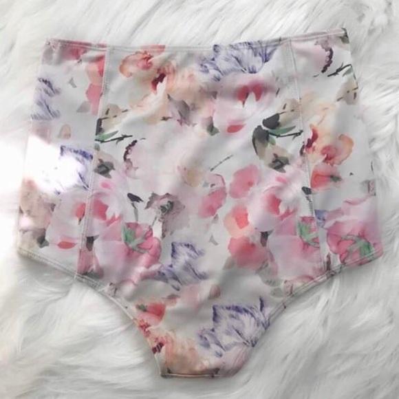 1373175554e2c Kortni Jeane Swim | Watercolor Floral Highwaisted Bottoms | Poshmark